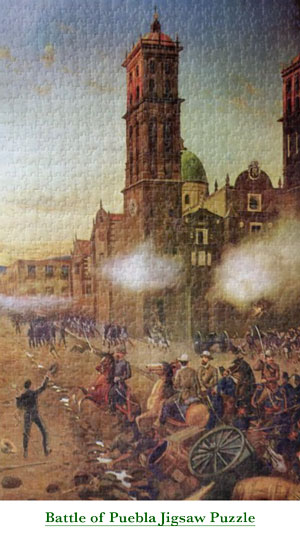 Battle of Puebla jigsaw puzzle. Very challenging.