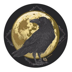 Spooky crow stickers. Get yours here.