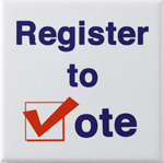 Register To Vote campaign supplies. Register your voters in time for the election!
