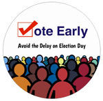 Vote Early election stickers for the 2018 midterm elections. Order yours now!