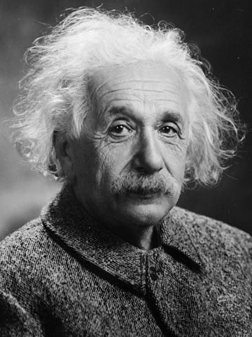 Albert Einstein, one of the greatest scientists who ever lived.