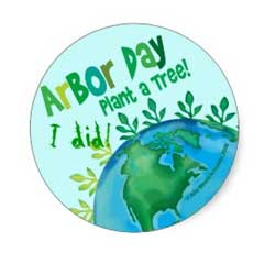 Arbor Day Stickers. Get some for yourself now.
