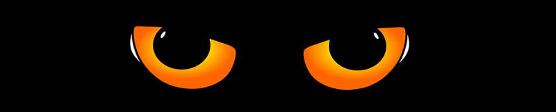 Spooky cat eyes products for Halloween. Get yours here!