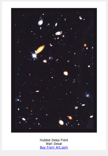 Hubble Deep Field Wall Decal. Get one for yourself now.