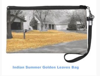 Indian Summer Golden Leaves Bag. Get one for yourself or as a gift.
