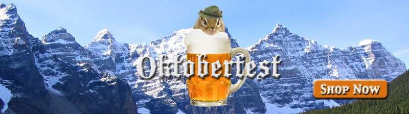 Get your Oktoberfest party supplies with this cute chipmunk theme right here.