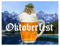 """Celebrate Oktoberfest with this cute chipmunk and his party products."