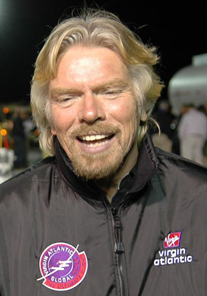 Photo of Richard Branson courtesy of NASA on Wikimedia Commons.