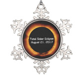 Snowflake Total Solar Eclipse Ornament. Get yours here!