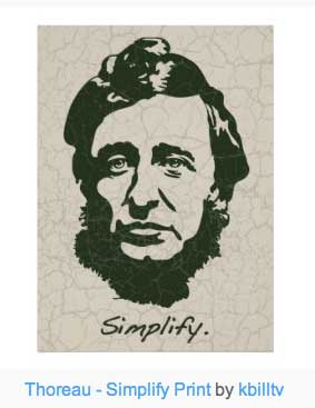 Thoreau Simplify poster. Get a one for yourself now.
