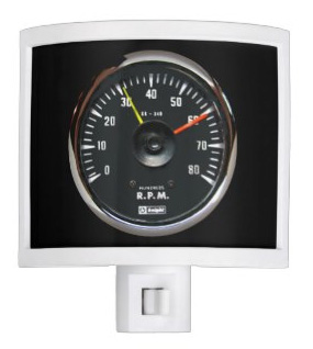 Vintage Round Auto Tachometer Night Light. Get one for yourself or a gift now...
